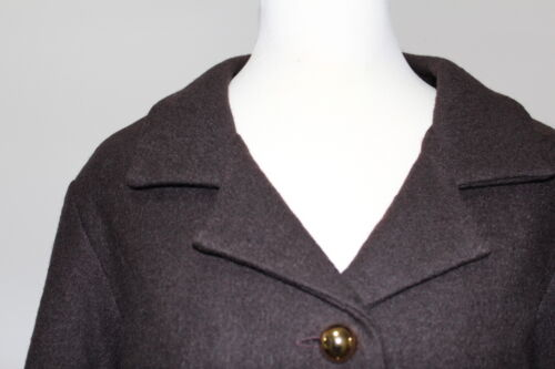 Wool Xl 4 Virginia Button Jacket 3 Brown Short Goldtone Taylor Sleeve Crop Ny w4vqtpw