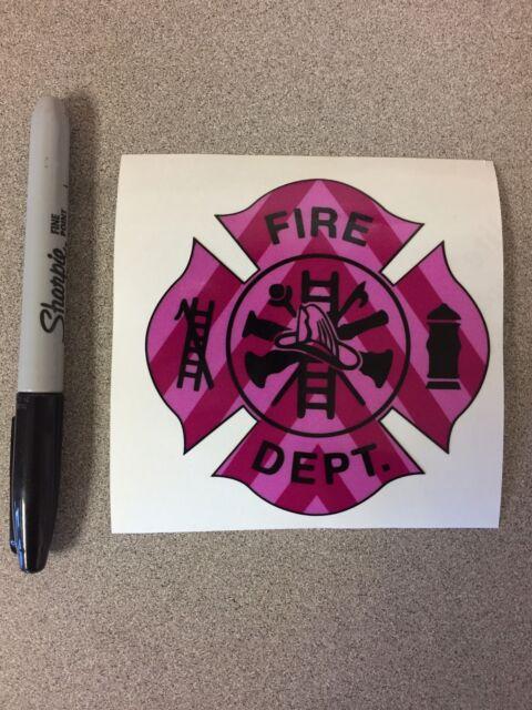 "/""FIRE/"" DEPARTMENT Firefighter Chevron Reflective 3M Vehicle Sticker Decal"