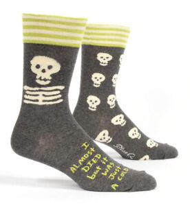 Punctual Men/'s Soft Cotton Crew Socks by Blue Q Funny Gift 6-11 Mr