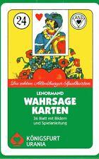 LENORMAND WAHRSAGEKARTEN - Die echten Altenburger Spielkarten - NEU