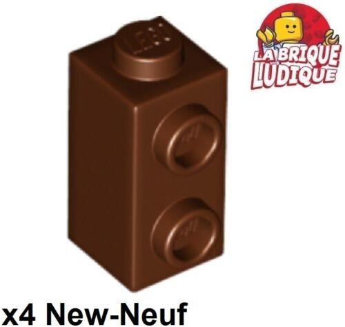 Lego 4x Brique Brick Modified 1x1x1 2 plots studs knobs marron//brown 32952 NEUF