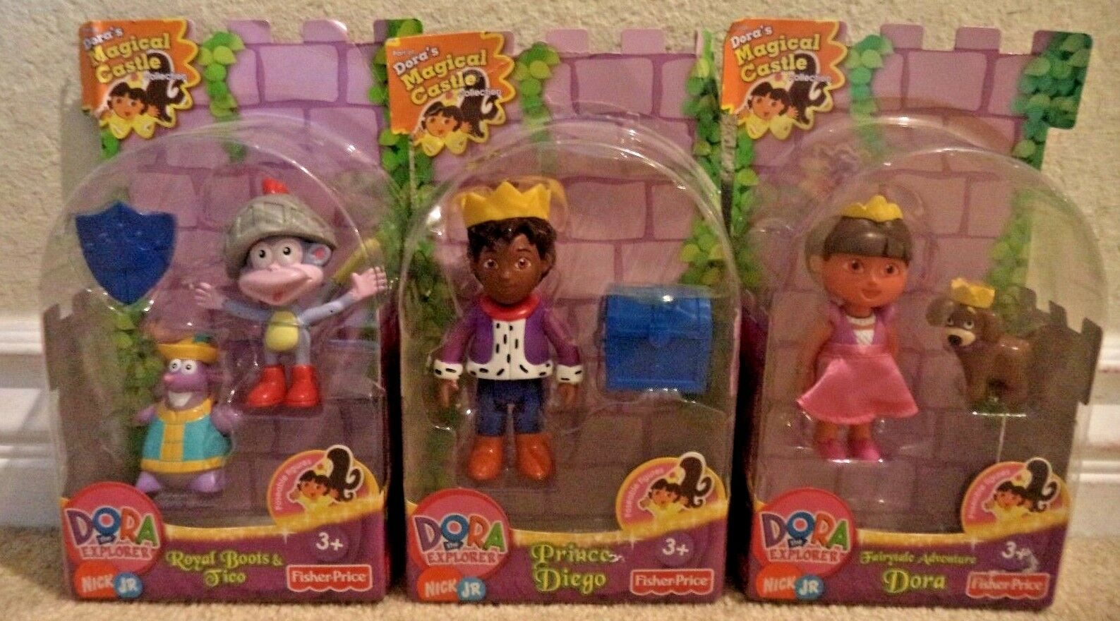 DORA THE EXPLORER MAGIC CASTLE DORA DORA DORA DIEGO BOOTS TICO 2008 NEW cca2fe