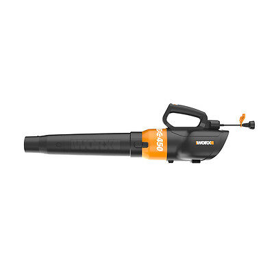 WORX WG519 TURBINE 450 7.5 Amp Electric Leaf Blower with Variable-Speed Control