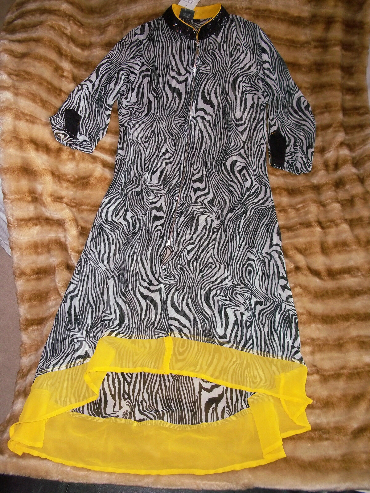 ZOLA  Zebra Print    long    Dress Tunic   with zipper