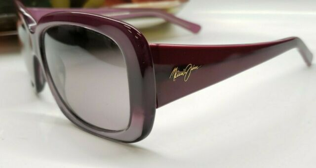 NEW Maui Jim Polarized Square Sunglasses Lani  Amethyst Fade MSRP $299