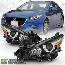 2017 2018 Mazda 3 Halogen Model Projector Headlights Headlamps Pair Leftright Fits Mazda 3