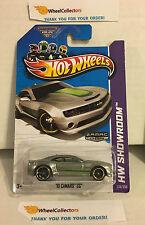 '10 Camaro SS #226 * ZAMAC Green Tampo * 2013 Hot Wheels * N32