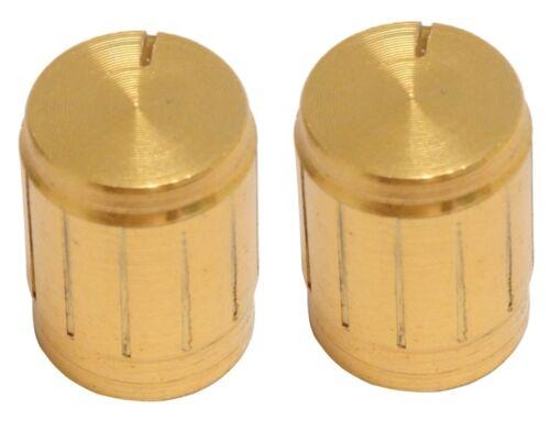 C2440 couleur or Lot de 2 boutons de potentiomètre axe 6mm