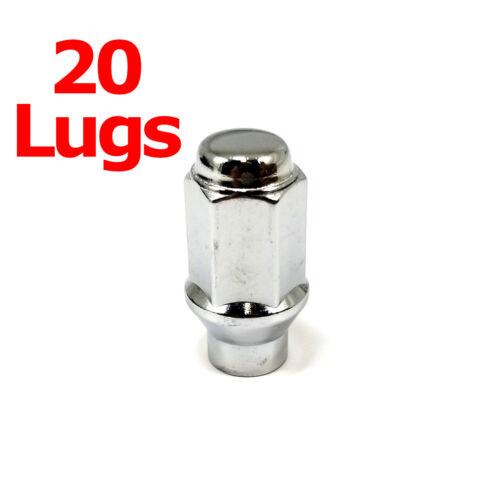 """20x Excalibur 7809HD Lug Nuts 14x1.50 Bulge Acorn 3//4/"""" Hex Chrome Closed HD ET"""