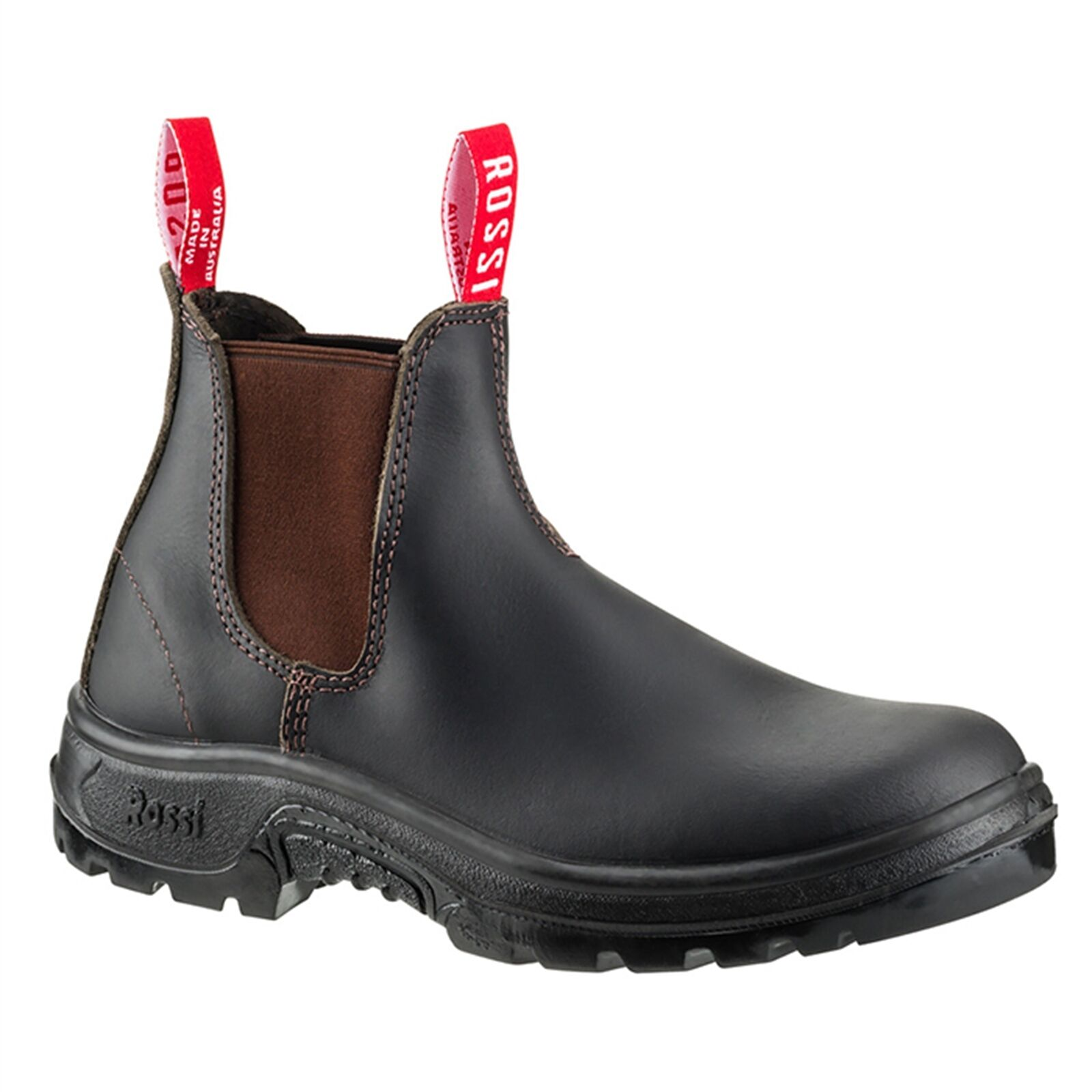 Rossi Stivali ELASTIC SIDED Size KIP WORK BOOTS Pelle Upper *A T Made- Size SIDED 7,8 Or 9 da0db7