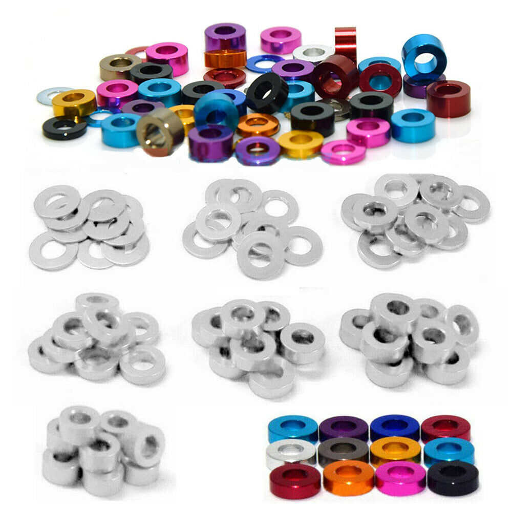 M2 M3 M4 M5 M6 New Aluminum Alloy Anodized Countersunk Washer Gasket Spacer CNC
