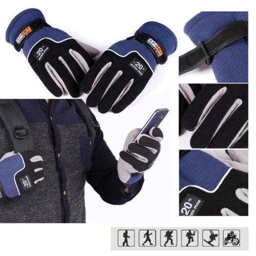 Outdoor Sports Cool Warm Winter Skiing Gloves Fleece Ski Snowboard Snow Mitten
