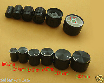 12PCS Aluminum Volume Knob tune control for Mixer AMPLIFIER Test Oscilloscope