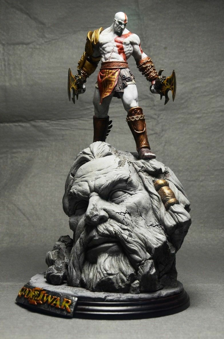 God of War 10  Kratos Collecter's Edition Painted Resin Figure Statue Model