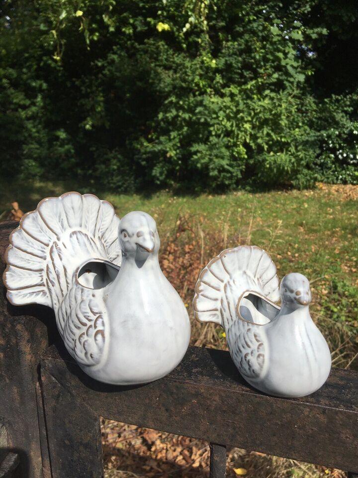 Smukke ophængs-vaser og keramik fugle krukker, Håndlavet