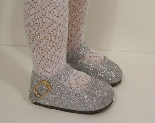 "SILVER Glitter Basic SM Doll Shoes For Sonja Hartmann 18/"" Kidz n Cats Debs"