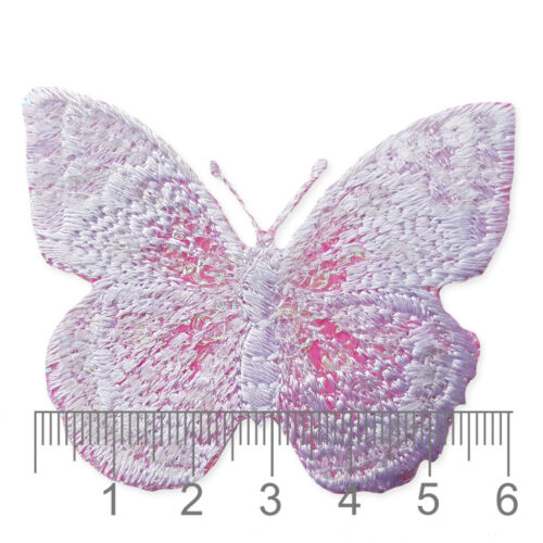 Sequin Butterfly Iron Sew on Appliques Embroidered Patches Insects Animals