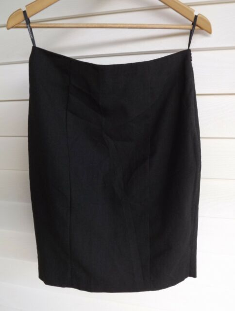 Portmans Size 10 - Women's Grey Skirt with Back Hem Ruffle