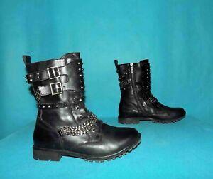 bottines-boots-IKKS-cloutees-en-cuir-noir-p-39-fr