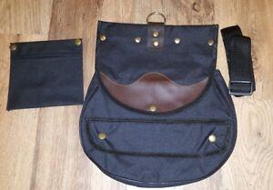 Falconry-Cordura-Bag-Hunting-Bag-with-Strap-amp-Detachable-Meat-Pocket-Jet-Black