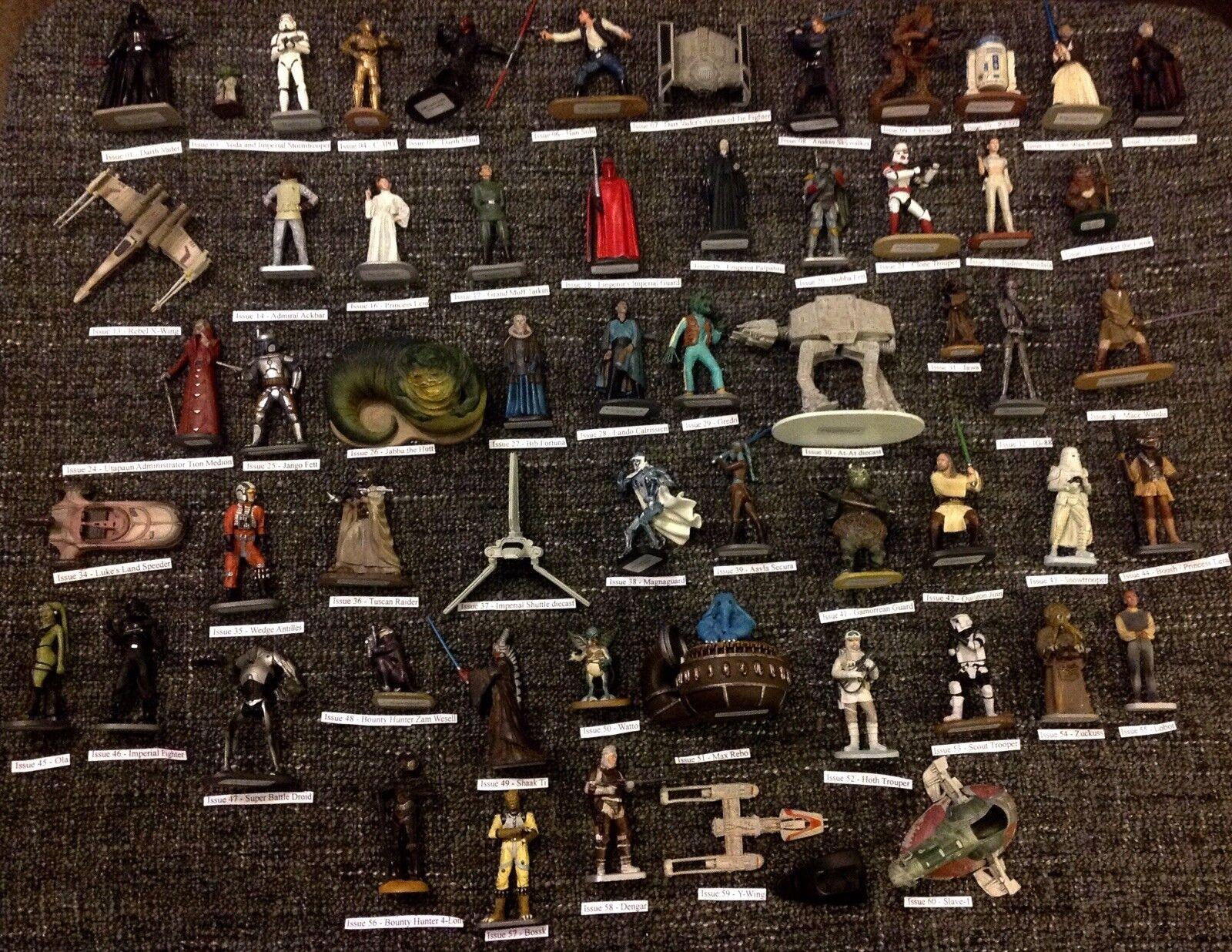 DeAgostini Star Wars Ultimate PIOMBO FIGURINA RACCOLTA COMPLETA 1-60 + RIVISTE