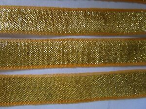 2-meter-spitze-1-3-cm-Gold-und-Gelb-Borte-elegante-C0216