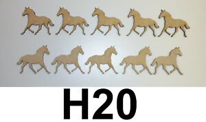 Pony MDF Laser Cut Craft Blanks in Various Sizes