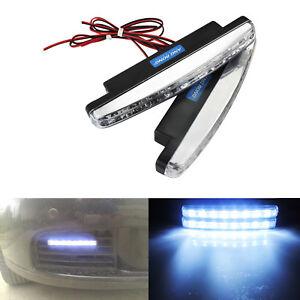 2x Universal 8 LED Tagfahrleuchten Vorne DRL Tagfahrlicht Nebelscheinwerfer Weiß
