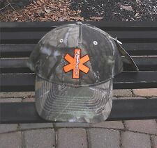 EMT/ EMS  Hat RealTree Hardwoods Camo Blaze Orange Star of Life Paramedic or EMT