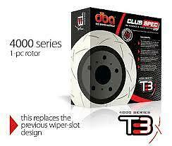 DBA T3 4000 Series Front Slotted Rotors x2 Toyota Supra JZA80 2JZ 296mm DBA4748S