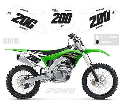 HONDA  MOTOCROSS BACKGROUNDS NUMBER BOARD GRAPHICS CR CRF 70-250 COMP2