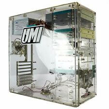 Acrylic Computer PC Case See-Through Clear Gaming Computer Tower Desktop ATX
