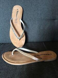 Online-Verkauf heißer verkauf authentisch Großhandelsverkauf Details zu Tamaris Tofa Leder Sandalette Metallic Gold Gr.39 *neu*