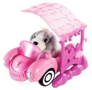 Zhu-Zhu-Pets-Puppies-Puppy-Smiling-Car-with-Carport-New-in-Box