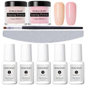 9Pcs-Set-NICOLE-DIARY-Dipping-Powder-Pink-Dip-Liquid-Nail-Art-Starter-Kit
