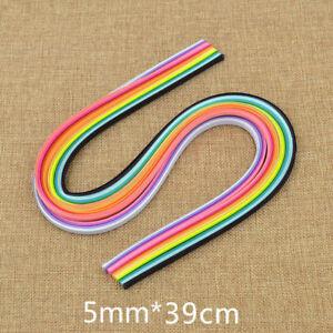 160 Stripes Multicolour Quilling Origami Paper 5mm x 390mm  DIY Papercraft Decor