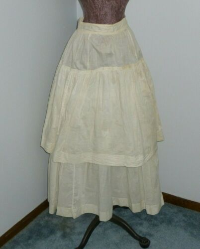 Antique Victorian Edwardian Layered Skirt c1900s W