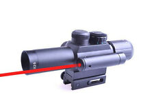 New Outdoor Optics 4X25 Red Green Dual Illuminated Sight Red Laser Rifle Scope
