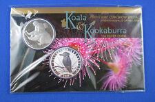 2009 Koala and Kookaburra 1 oz silver coins. Perth Mint Show - ANDA Brisbane