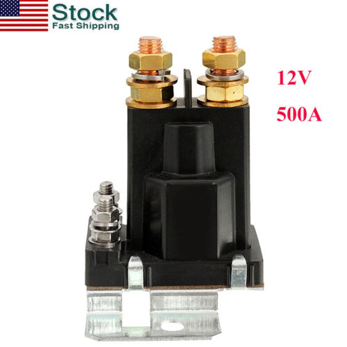 4-Pin 500A 12V DC High Current Starter Relay Switching Relay SPST Contactor US
