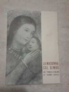 Vanni-Rossi-LA-MADONNA-COL-BIMBO-6-CARTOLINE-Niguarda-Natale-1957