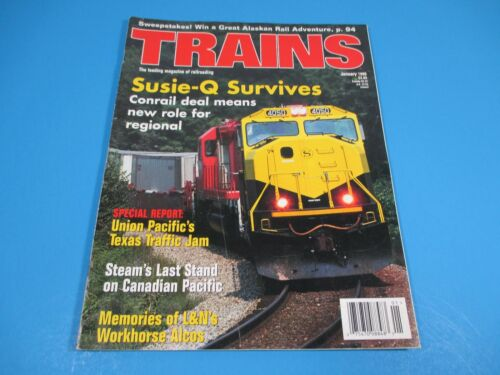 Trains, The Magazine of Railroading January 1998 SusieQ Survives, Conrail Deal