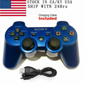 PS3 Controller GamePad for PlayStation 3 DualShock 3 Wireless SixAxis Blue US