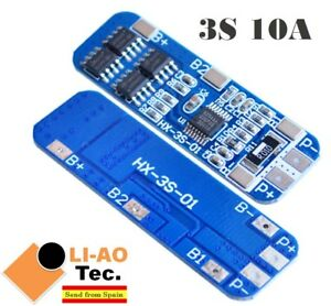 3S-10A-12V-Li-ion-Lithium-18650-BMS-PCM-Battery-Protection-Board