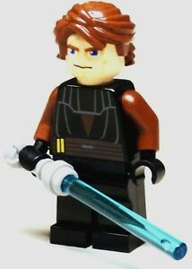 LEGO-Star-Wars-Anakin-Minifigure-With-light-Saber-Sword-Weapon-NEW-minifig