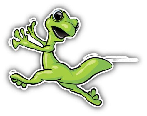 """Gecko Running Car Bumper Sticker Decal /""""SIZES/'/'"""