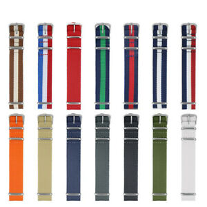 18-22mm-Military-Army-Nylon-Fabric-Watch-Band-Strap-Alloy-Buckle-Wrist-WatchBand