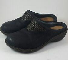 UGG Australia womens open back slip on shoe Black nubuck leather size 5