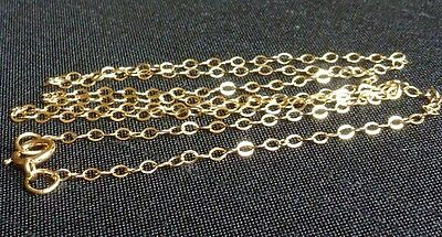 14 Kt Gold filled flat cable chain finished necklace jewelry finding 16 inch
