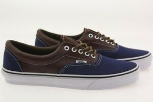 64ed84f9b1 Vans Men Era - Leather Plaid blue estate potting soil VN018FIFY